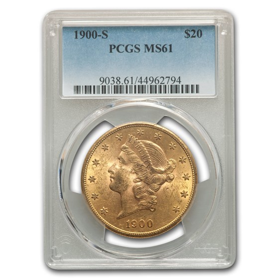 1900-S $20 Liberty Gold Double Eagle MS-61 PCGS
