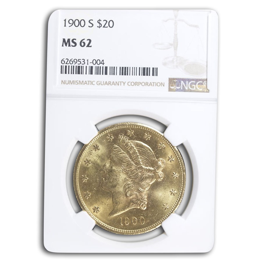 1900-S $20 Liberty Gold Double Eagle MS-62 NGC