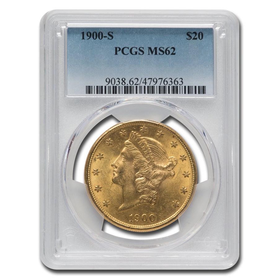 1900-S $20 Liberty Gold Double Eagle MS-62 PCGS