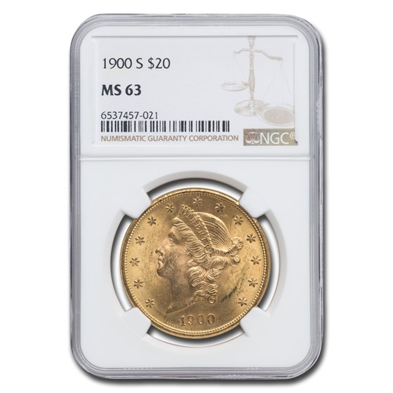 1900-S $20 Liberty Gold Double Eagle MS-63 NGC
