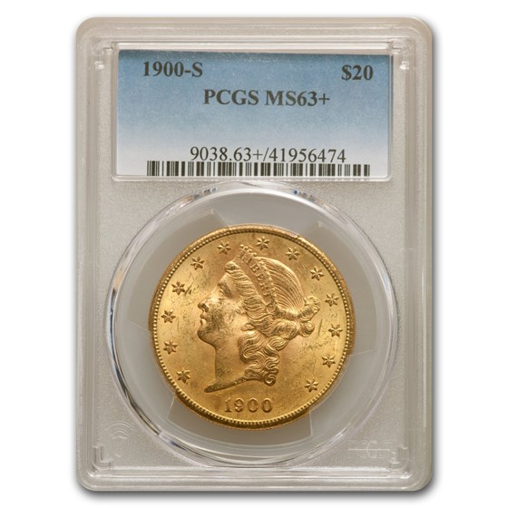 1900-S $20 Liberty Gold Double Eagle MS-63+ PCGS