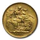 1900-S Australia Gold Sovereign Victoria Veil Head BU