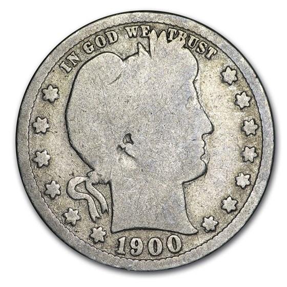 1900-S Barber Quarter Good
