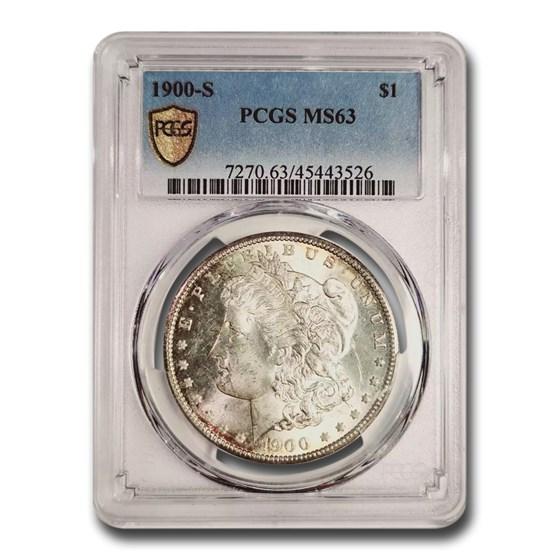 1900-S Morgan Dollar MS-63 PCGS