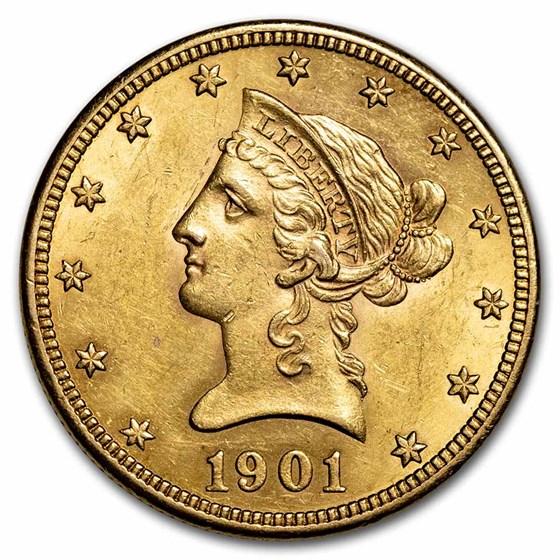 1901 $10 Liberty Gold Eagle AU