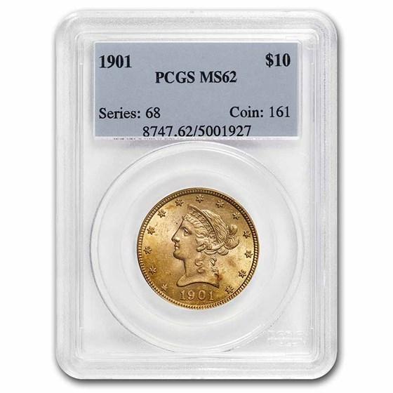 1901 $10 Liberty Gold Eagle MS-62 PCGS