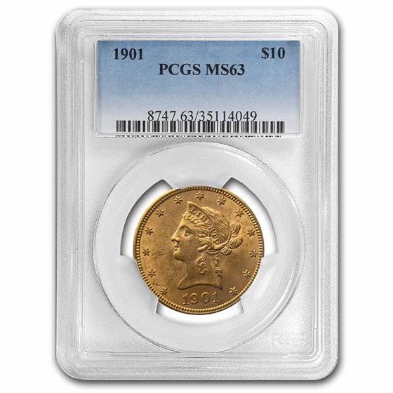 1901 $10 Liberty Gold Eagle MS-63 PCGS