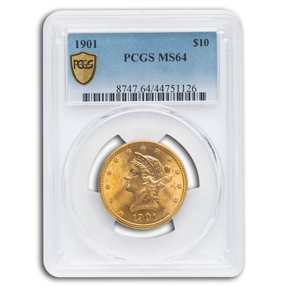 1901 $10 Liberty Gold Eagle MS-64 PCGS
