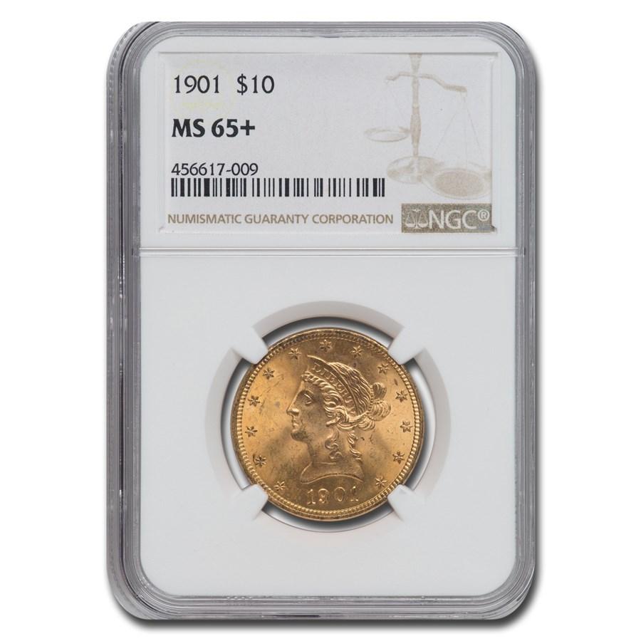 1901 $10 Liberty Gold Eagle MS-65+ NGC