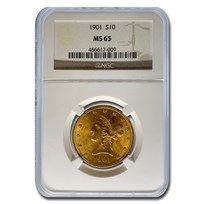 1901 $10 Liberty Gold Eagle MS-65 NGC