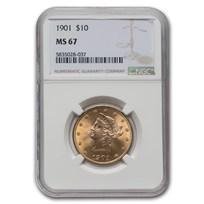 1901 $10 Liberty Gold Eagle MS-67 NGC