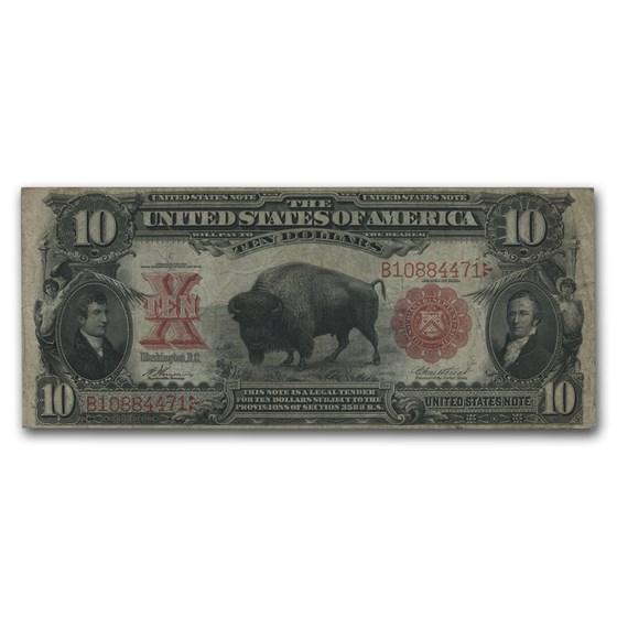 1901 $10 U.S. Note Lewis & Clark/Bison Fine (Fr#118)