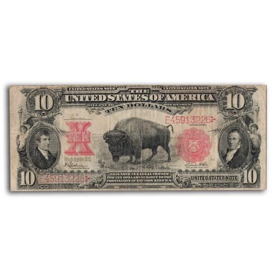 1901 $10 U.S. Note Lewis & Clark/Bison VF-20 PMG (Fr#122)