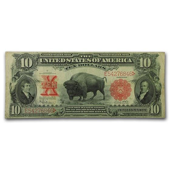 1901 $10 U.S. Note Lewis & Clark/Bison VF (Fr#122)