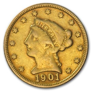 1901 $2.50 Liberty Gold Quarter Eagle (Jewelry Coin)