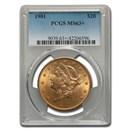 1901 $20 Liberty Gold Double Eagle MS-63+ PCGS