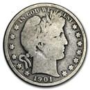 1901 Barber Half Dollar AG