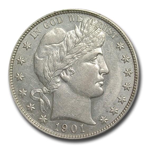 1901 Barber Half Dollar AU-55 PCGS