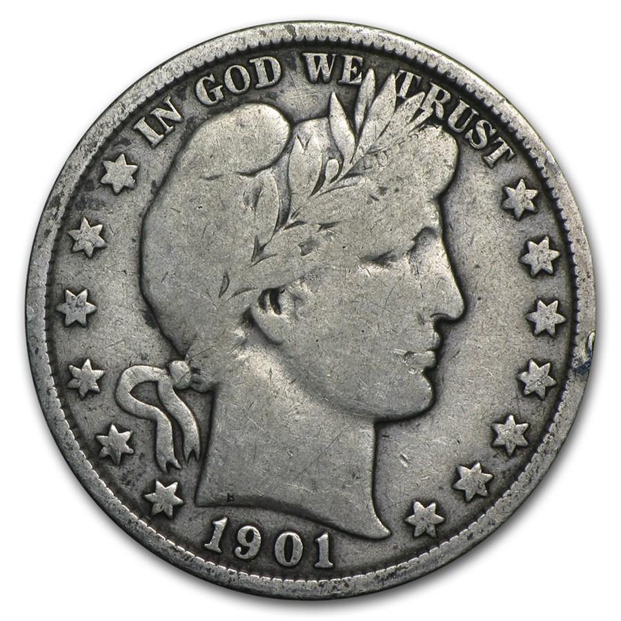 1901 Barber Half Dollar Fine