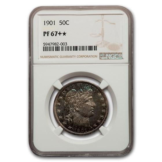 1901 Barber Half Dollar PF-67+* NGC