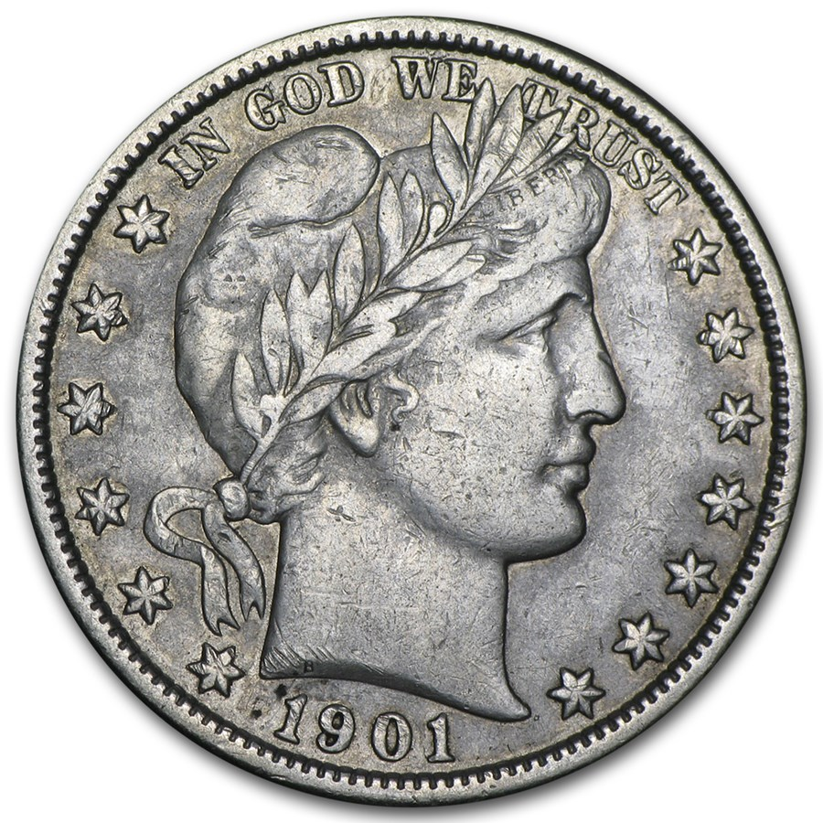 1901 Barber Half Dollar VF