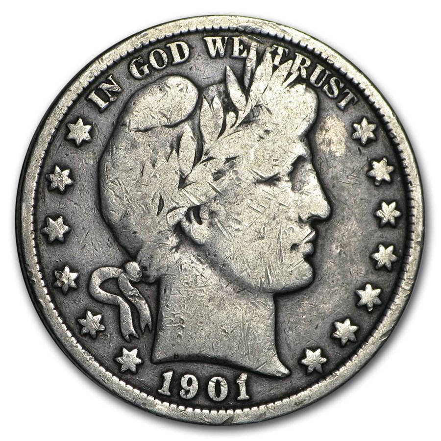 1901 Barber Half Dollar VG