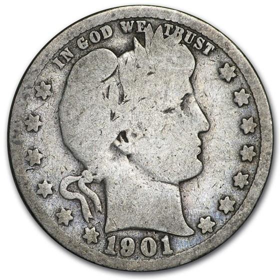 1901 Barber Quarter Good/VG
