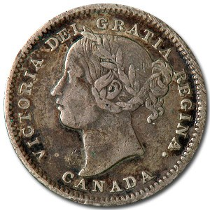 1901 Canada 10 Cents VF