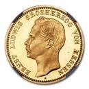 1901 German States Hesse-Darmstadt Gold 20 Mark PF-65 NGC (CAMEO)