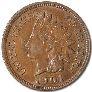 1901 Indian Head Cent AU