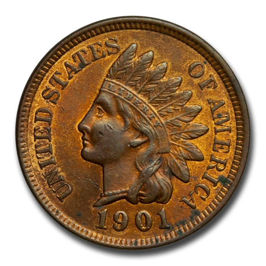 1901 Indian Head Cent BU (Red/Brown)