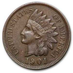 1901 Indian Head Cent VF
