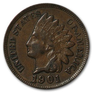 1901 Indian Head Cent XF