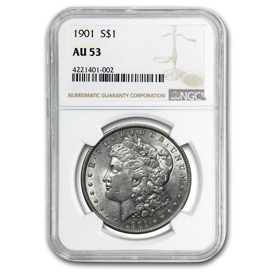 1901 Morgan Dollar AU-53 NGC