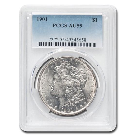 1901 Morgan Dollar AU-55 PCGS