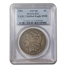 1901 Morgan Dollar Fine-12 PCGS (VAM 3 Shifted Eagle DDR)