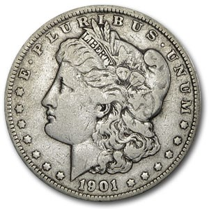 1901 Morgan Dollar Fine
