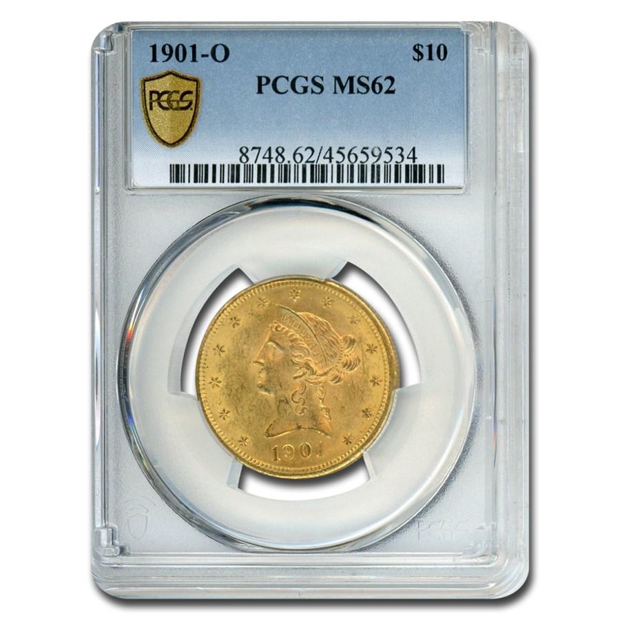 1901-O $10 Liberty Gold Eagle MS-62 PCGS