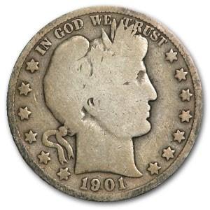1901-O Barber Half Dollar Good