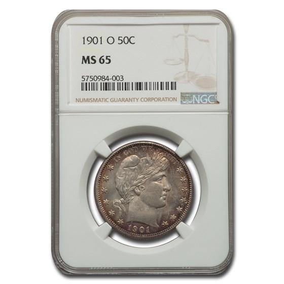 1901-O Barber Half Dollar MS-65 NGC