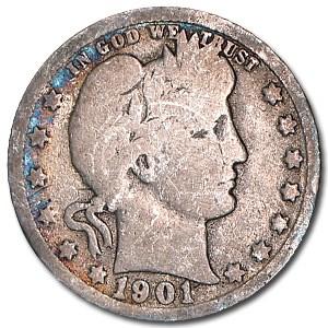 1901-O Barber Quarter Good