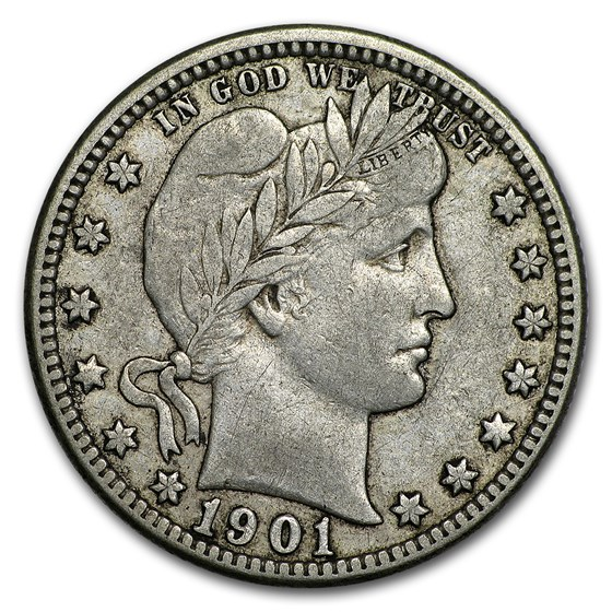 1901-O Barber Quarter VF