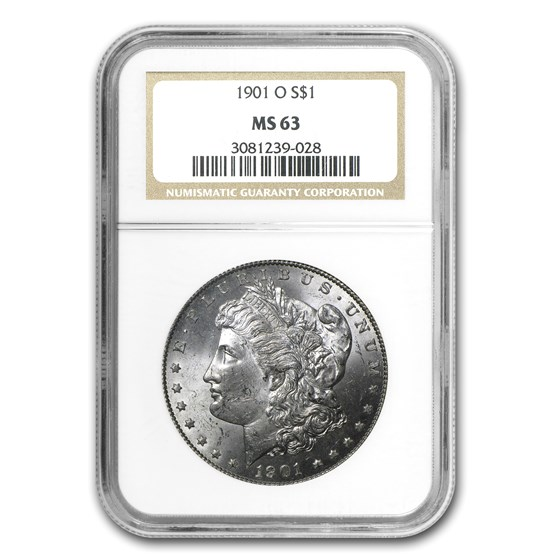 1901-O Morgan Dollar MS-63 NGC