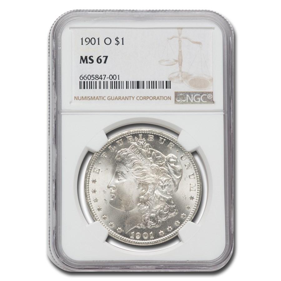 1901-O Morgan Dollar MS-67 NGC