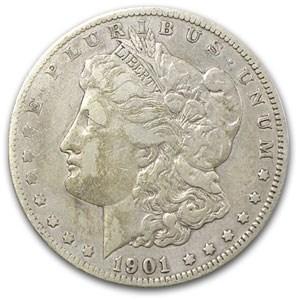 1901-O Morgan Dollar VF (Cleaned, 45 Degree Rotated Rev Error)