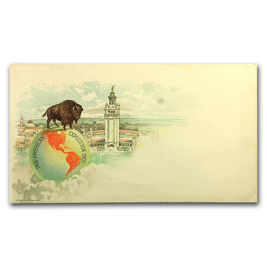 1901 Pan American Decorative Mailing Envelope