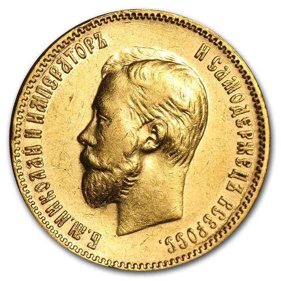 1901 Russia Gold 10 Roubles XF