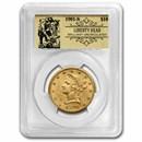1901-S $10 Liberty Gold Eagle BU PCGS (Prospector Label)