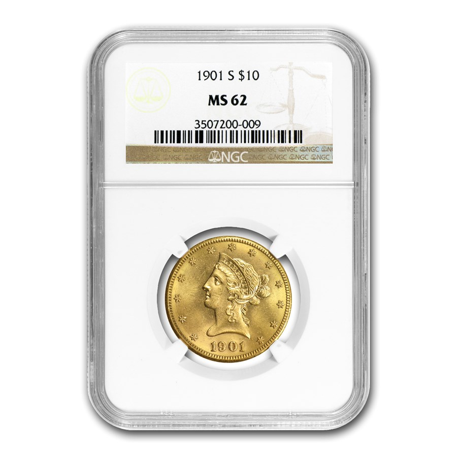 1901-S $10 Liberty Gold Eagle MS-62 NGC