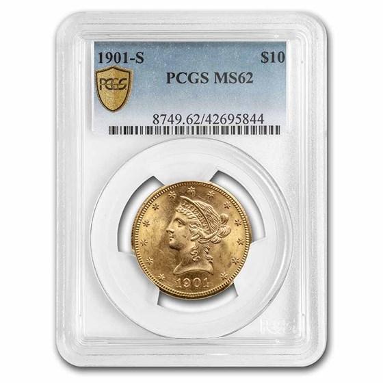 1901-S $10 Liberty Gold Eagle MS-62 PCGS